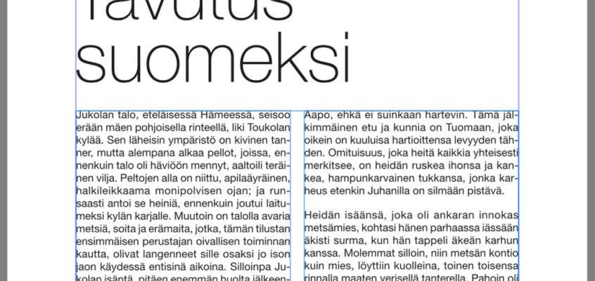 Suomenkielen tavutus Affinity Publisheriin Mac -koneille.